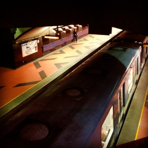 Acadie Blue Line. Opened 1988. For an overview of the history of Acadie see the post here.